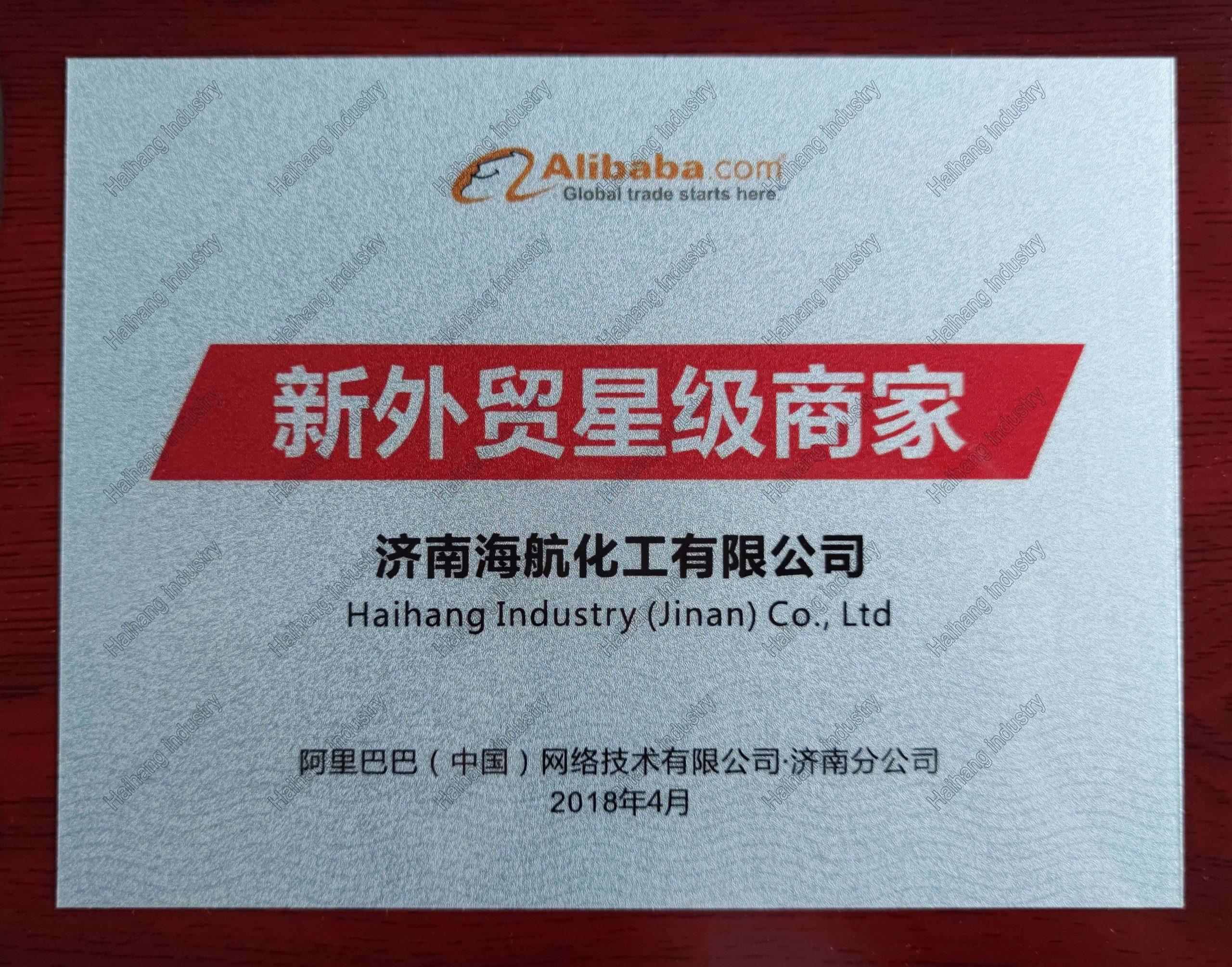 Alibaba.com New Foreign Trade Star Merchant