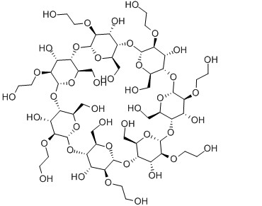 hydroxyethyl beta-cyclodextrin Molecular Structure